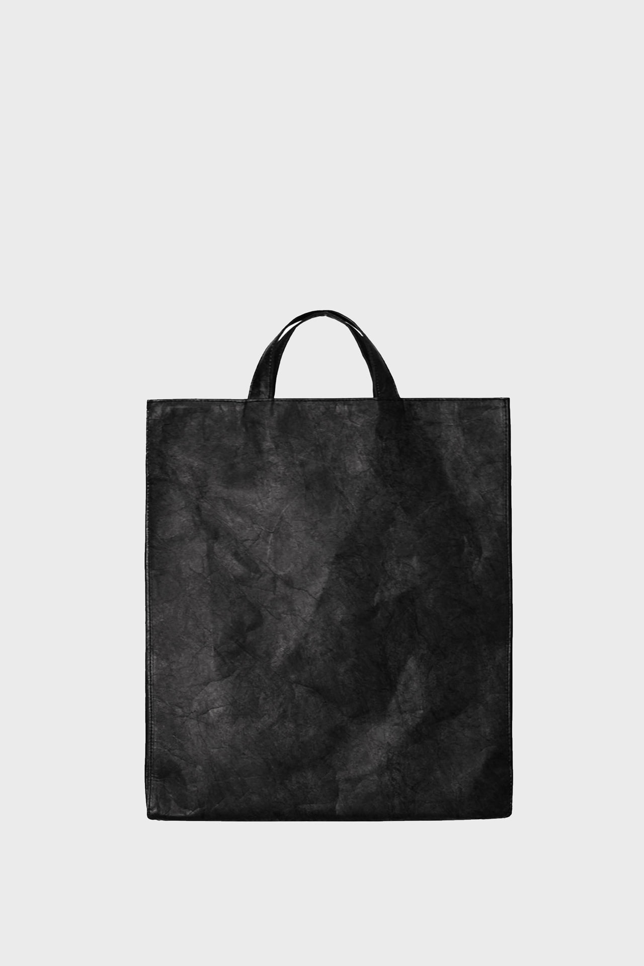 Paper Leather Cross-Tote Bag_Black