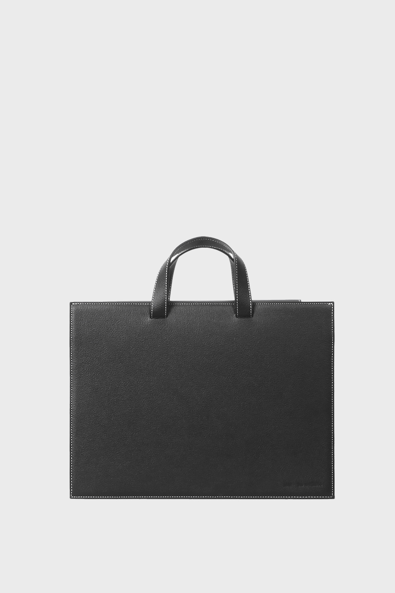 RECTANGLE Stitch Leather Cross Tote Bag