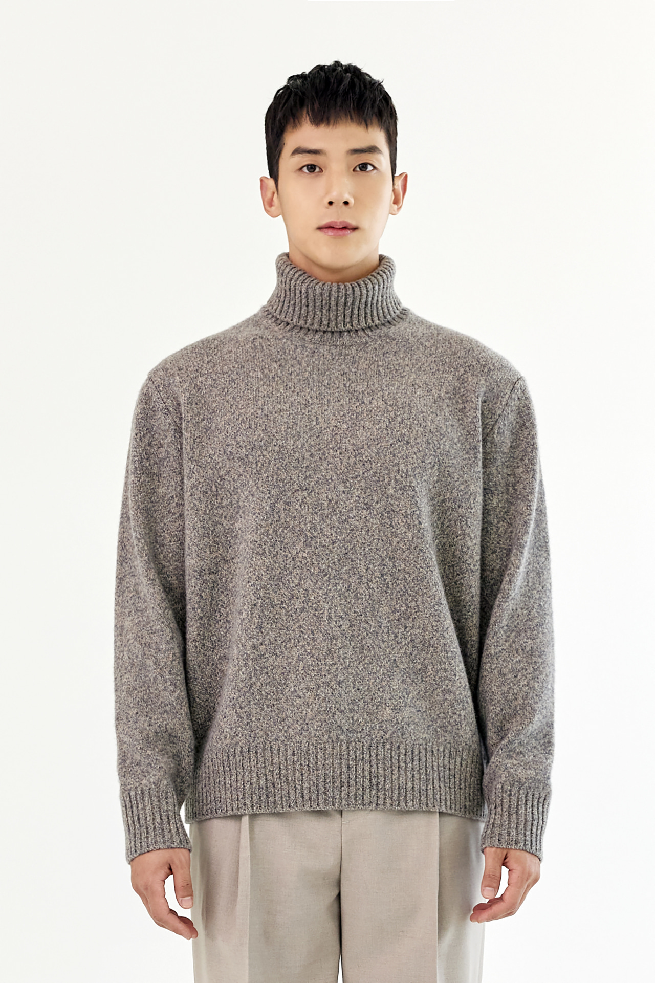 [EXCLUSIVE] MULTI COLOR Merino Wool Turtle-Neck Knit